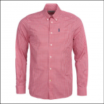Barbour Gingham 19 Tailored Shirt Red 1