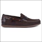 Barbour Keel Boat Shoe Nubuck Brown 1