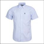 Barbour Seersucker 5 Short Sleeve Shirt Sky 1