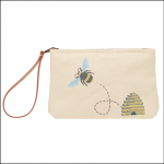 Joules Como Printed Zip Pouch Bag - Gold Bee 1