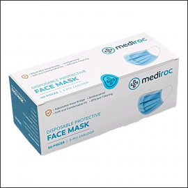 Mediroc Disposable Protective Face Masks (Box of 50)