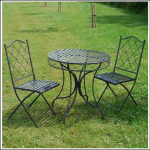 Ascalon Marra 3pc Bistro Set Umber Grey 1