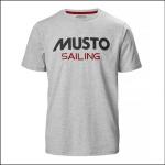 Musto Men's Sailing T-Shirt Grey Melange 1