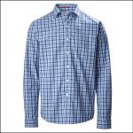 Musto Riviera Long Sleeve Shirt Ford Blue Check 1
