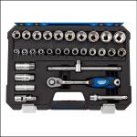 Draper 16452 1/2″ Square Drive Metric Socket Set (30 Piece)