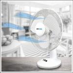StayCool 12inch Oscillating White Desk Fan 1