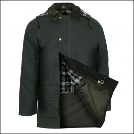 Champion Howick Men's Wax Jacket Olive Green 1