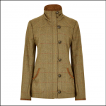 Dubarry Bracken Ladies Tweed Utility Jacket Elm 1