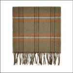 Dubarry Cullen Dusky Green Check Scarf