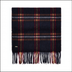 Dubarry Cullen Navy Check Scarf
