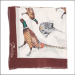 Dubarry Tullynally Silk Scarf Pheasant