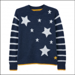 Joules Chantelle Intarsia Knitted Jumper Navy Star-Stripe 1