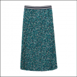 Joules Eila Long Pleated Skirt Navy Ditsy 1