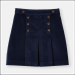 Joules Haddie Button Front Skirt French Navy 1