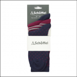 Schoffel Beck Bamboo Socks (Pack of 3) Navy Mix
