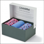 Schoffel Boxed Bamboo Socks (4-7) Blue Mix 1