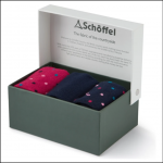 Schoffel Boxed Bamboo Socks (4-7) Navy Dot Mix 1