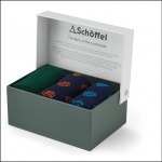 Schoffel Boxed Bamboo Socks (Pack of 3) Pine Cone Print 1