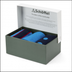Schoffel Boxed Bamboo Socks (7-11) Sea Blue Mix 1