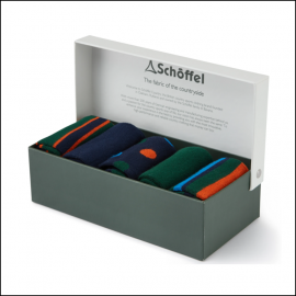 Schoffel Boxed Bamboo Socks (7-11) Ink Mix 1
