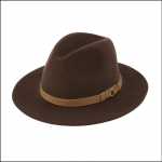 Schoffel Willow Ladies Fedora Chocolate 1