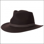 Barbour Bushman Crushable Felt Hat Brown 1