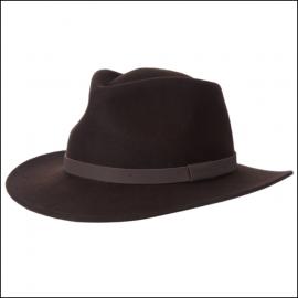 Barbour Bushman Crushable Felt Hat Brown 1