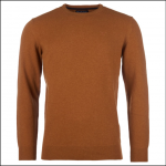 Barbour Essential Crew Neck Jumper Dark Copper 1