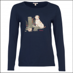 Barbour Headley Ladies Tee Shirt Navy 1