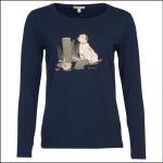 Barbour Headley Ladies Tee Shirt Navy 1