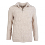 Barbour Ingram Ladies Sweater Oatmeal 1