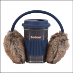 Barbour Ladies Travel Mug & Earmuff Set 1