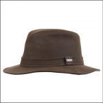 Barbour Ladies Vintage Wax Bushman Hat Olive 1