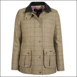 Barbour Marlow Ladies Wool Jacket Green-Pink Check 1
