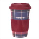 Barbour Tartan Reusable Travel Mug Red-Navy Tartan