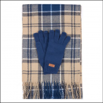 Barbour Tartan Wrap & Sock Set Tempest-Trench