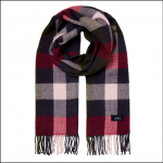 Joules Bracken Woven Scarf Blue-Pink Check 1
