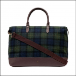 Joules Fulbrook Tweed Holdall Navy-Green Check 1