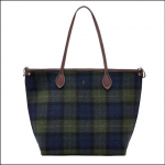Joules Fulbrook Tweed Tote Navy-Green Check 1