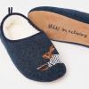 Joules Slipper & Sock Gift Set Navy Hare 3