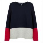 Joules Valencia Knitted Ripple Stitch Jumper French Navy 1