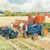 Tractor Themed Blank Cards by Steven Binks - Beer & Barley
