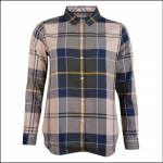 Barbour Homeswood Ladies Shirt Olive Check 1