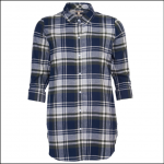 Barbour Windbound Ladies Shirt Olive Check 1