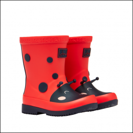 Joules Baby Printed 3D Wellies Red Ladybird 1