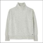 Joules Halton Knitted Turtle Neck Jumper Grey Marl 1