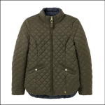 Joules Highgrove Reversible Quilted Jacket Heritage Green-Navy 1
