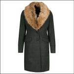 Joules Langley Dark Green Tweed Longline Coat 1