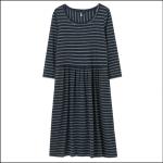 Joules Milana Dropped Waist Jersey Dress Navy Stripe 1