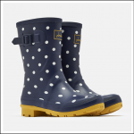 Joules Molly Mid Height Wellies French Navy Spot 1
